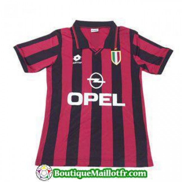 Maillot Ac Milan Retro 1996 Domicile
