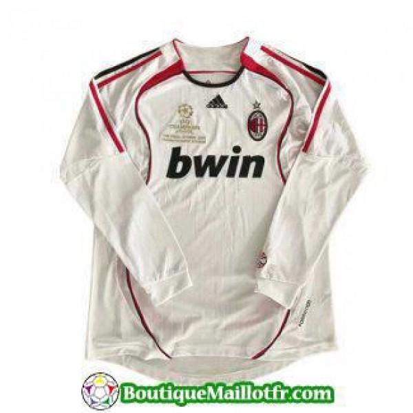 Maillot Ac Milan Retro Manche Longue 2006 2007 Ext...
