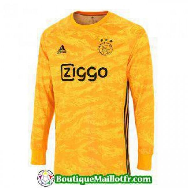 Maillot Ajax Gardien Manche Longue 2019 2020 Jaune