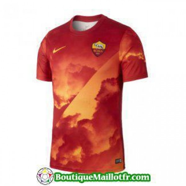 Maillot As Roma Entrainement 2019 2020 Rouge Orang...