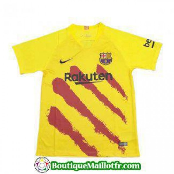 Maillot Barcelone Entrainement 2019 2020 Jaune