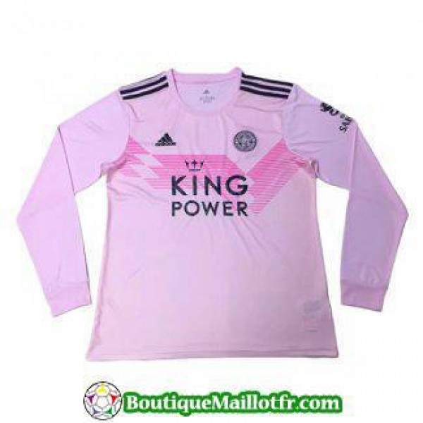 Maillot Leicester City Manche Longue 2019 2020 Ext...