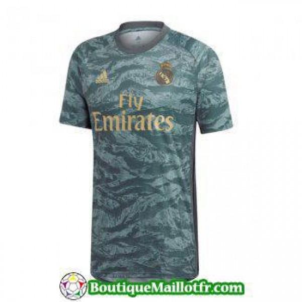 Maillot Real Madrid Gardien 2019 2020 Bleu Fonce N...
