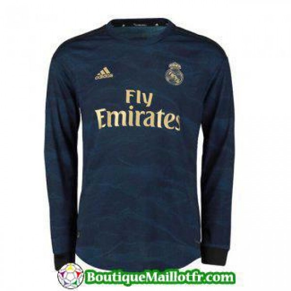 Maillot Real Madrid Manche Longue 2019 2020 Exteri...
