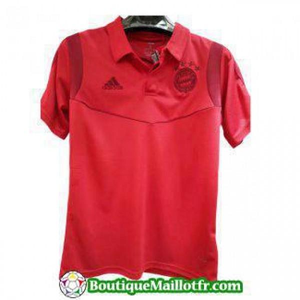 Polo Bayern Munich 2019 2020 Rouge Fonce