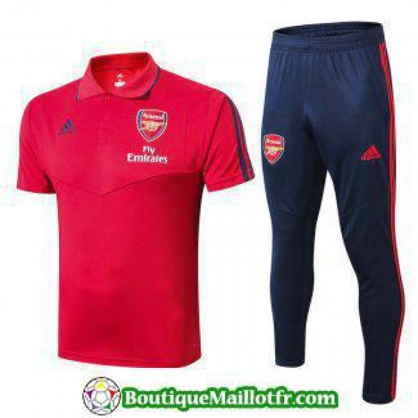 Polo Kit Arsenal Entrainement 2019 2020 Rouge