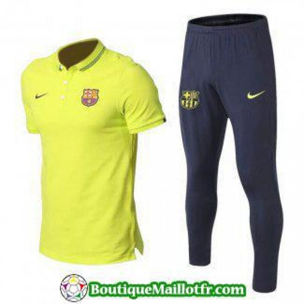Polo Kit Barcelone Entrainement 2019 2020 Vert Jau...