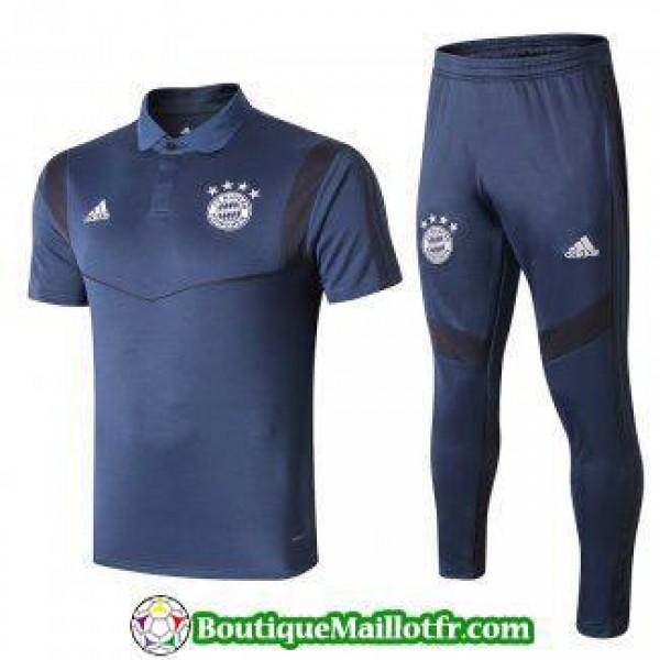 Polo Kit Bayern Munich Entrainement 2019 2020 Bleu...