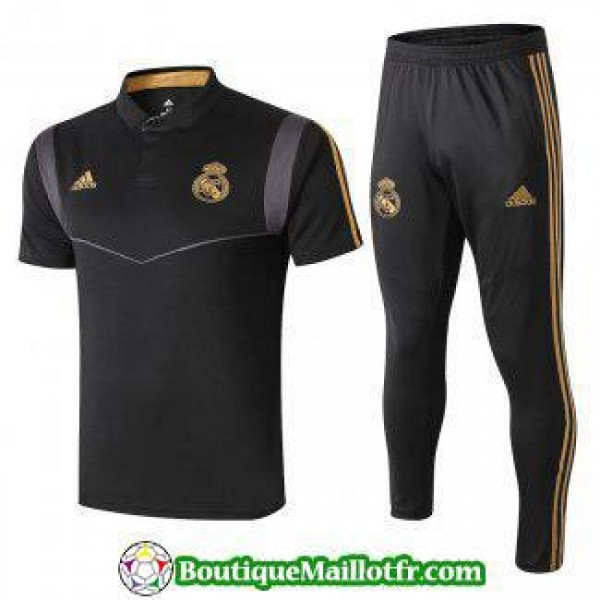 Polo Kit Real Madrid Entrainement 2019 2020 Noir