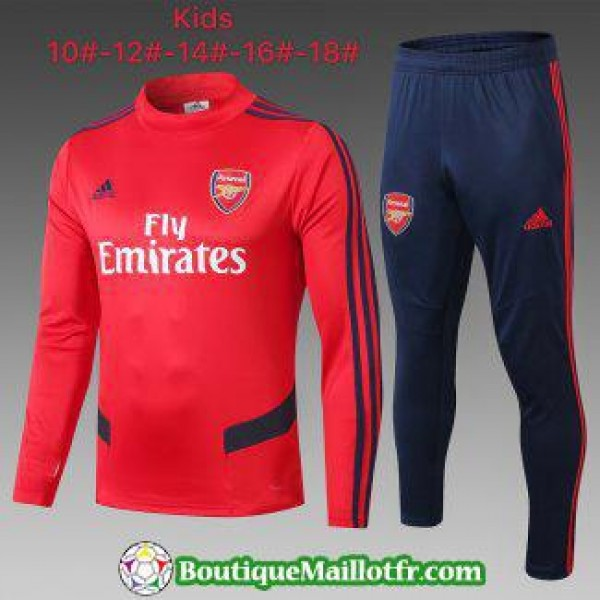 Chandal Arsenal Enfant 2019 2020 Col Haut Rouge