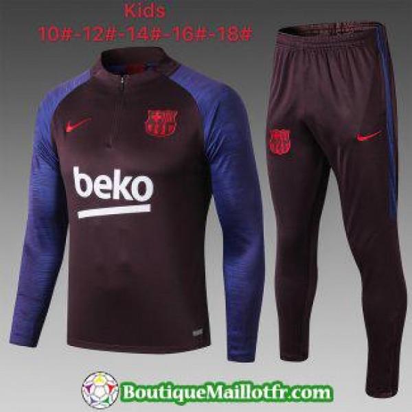 Chandal Barcelone Enfant 2019 2020 Fermeture Eclai...