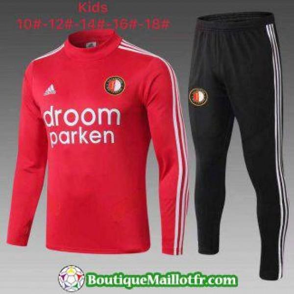Chandal Feyenoord Enfant 2019 2020 Col Haut Rouge