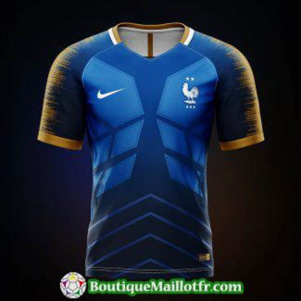 Maillot France Edition Limitee 2019 2020 Bleu Brow...