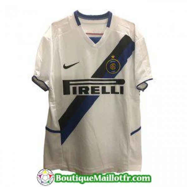 Maillot Inter Milan Retro 2002 2003 Exterieur