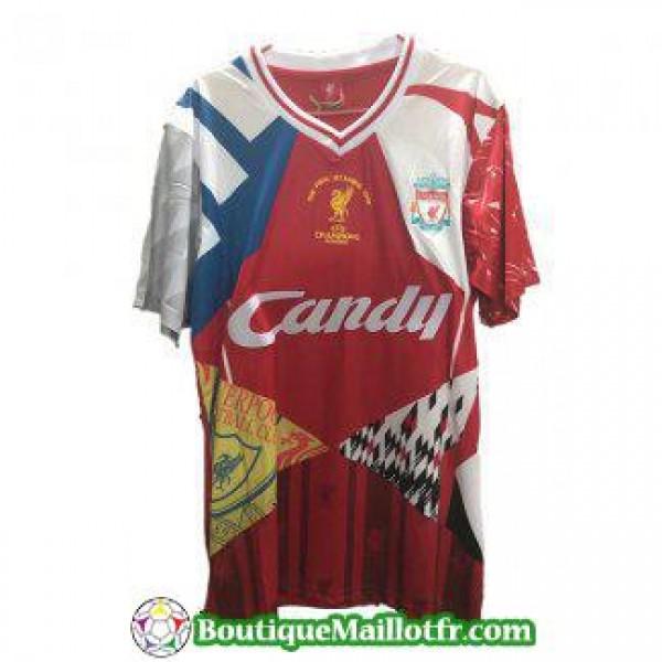 Maillot Liverpool Retro Manche Longue Champions Le...