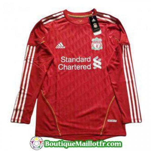 Maillot Liverpool Retro Manche Longue Domicile 201...