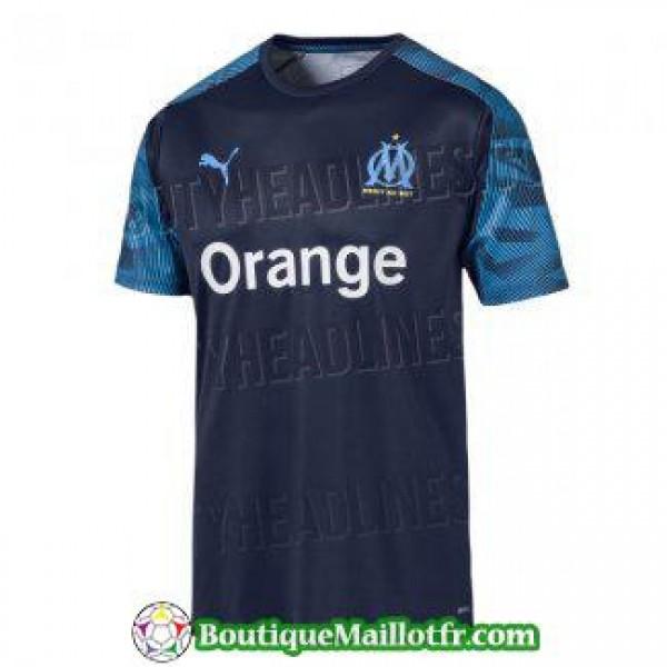 Maillot Marsella Entrainement 2019 2020 Noir Bleu