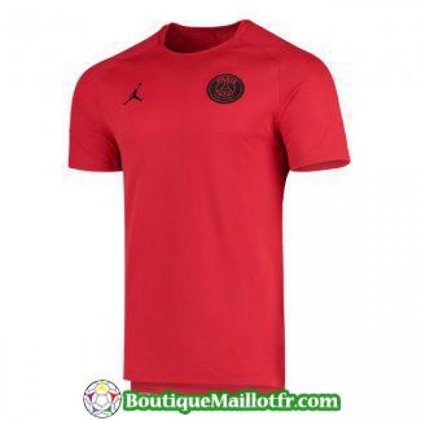maillot psg jordan entrainement 2019 2020 rojo