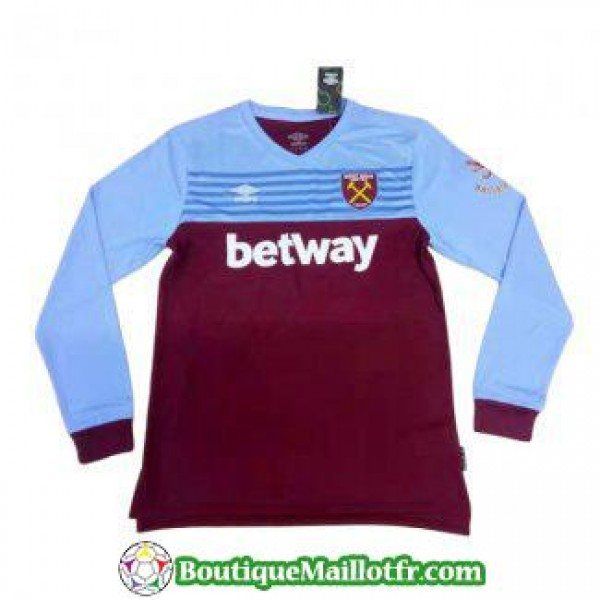 Maillot West Ham United Manche Longue 2019 2020 Do...
