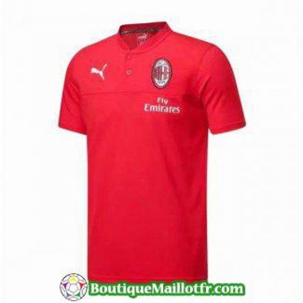 Polo Ac Milan 2019 2020 Rouge