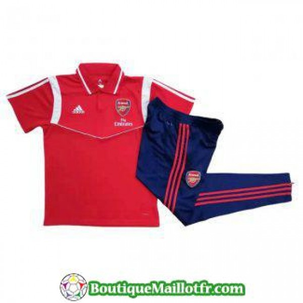 Polo Kit Arsenal Entrainement 2019 2020 Rouge Blan...