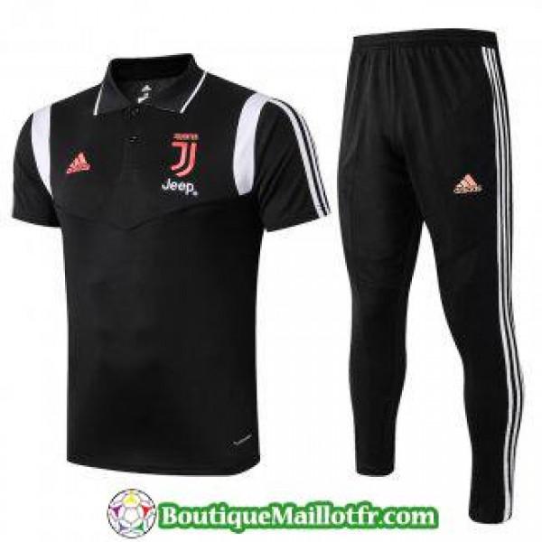 Polo Kit Juventus Entrainement 2019 2020 Noir Blanc Rouge