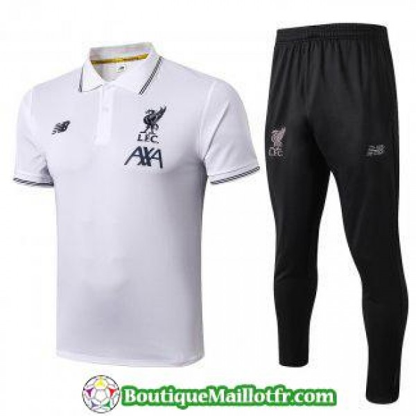 Polo Kit Liverpool Entrainement 2019 2020 Blanc B