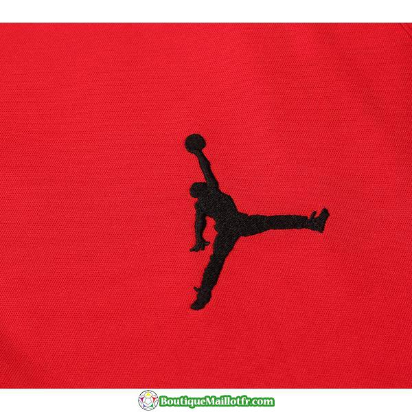 Polo Kit Paris Saint Germain Jordan Entrainement 2019 2020 Rouge