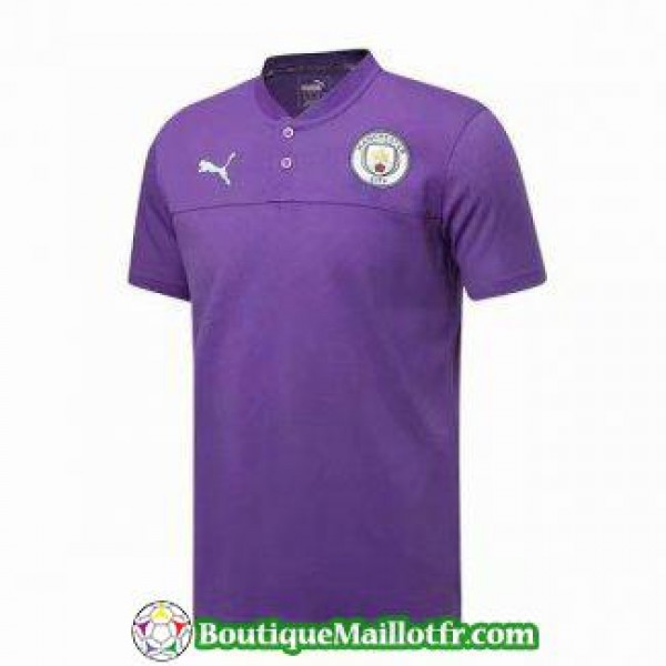 Polo Manchester City 2019 2020 Pourpre