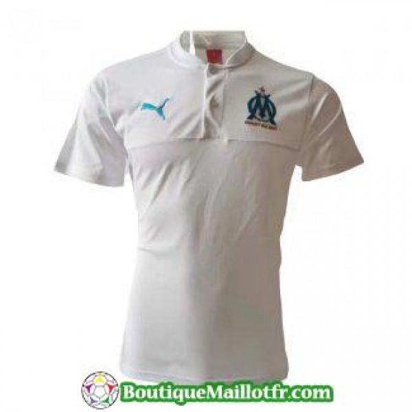 Polo Marseille 2019 2020 Blanc