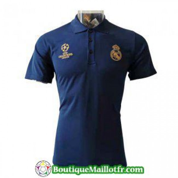 Polo Real Madrid 2019 2020 Champions League Bleu F...