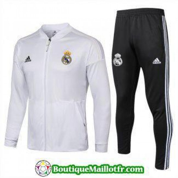 Veste Real Madrid 2018 2019 Ensemble Complet Blanc