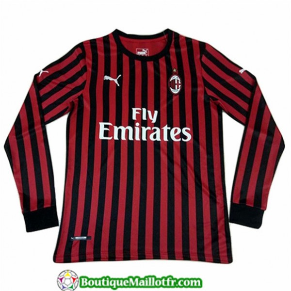 Maillot Ac Milan 2019 2020 Domicile Manche Longue
