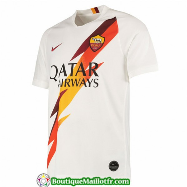 Maillot As Roma 2019 2020 Exterieur Blanc