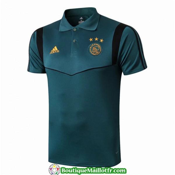 Maillot Ajax Polo 2019 2020 Bleu