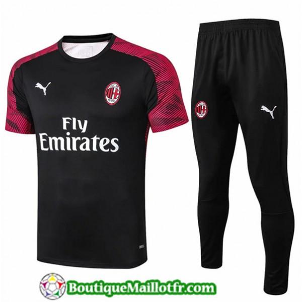 Maillot Entrenamiento Ac Milan 2019 2020 Rouge Fon...