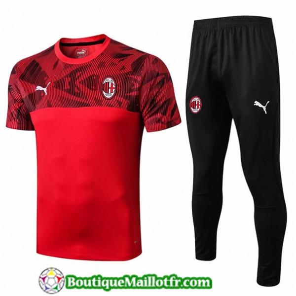 Maillot Entrenamiento Ac Milan 2019 2020 Rouge/noi...