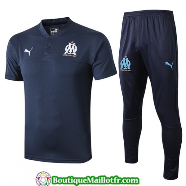 Maillot Entrenamiento Marseille 2019 2020 Bleu Mar...