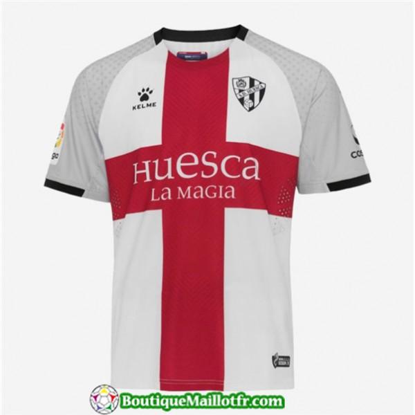 Maillot Huesca Exterieur Blanc 2019 2020