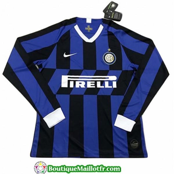 Maillot Inter Milan 2019 2020 Domicile Manche Long...