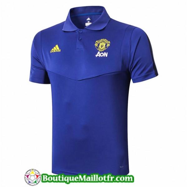 Maillot Manchester United 2019 2020 Polo Bleu