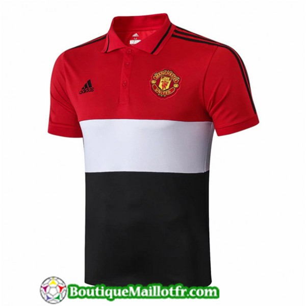Maillot Manchester United 2019 2020 Polo Rouge/noi...