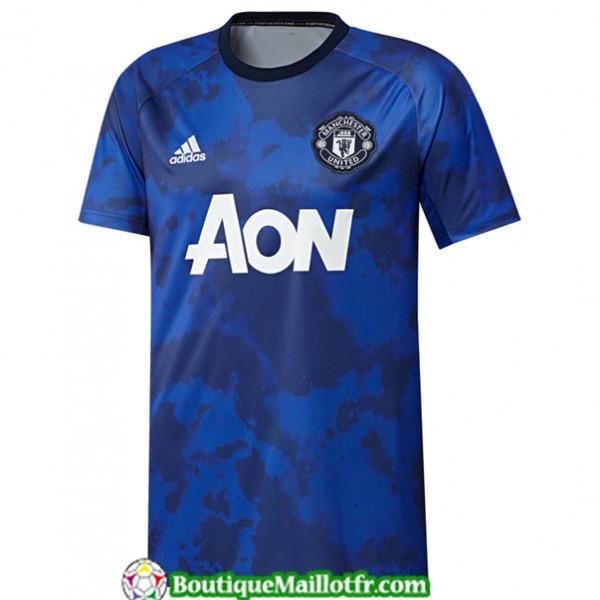 Maillot Manchester United 2019 2020 Training Bleu