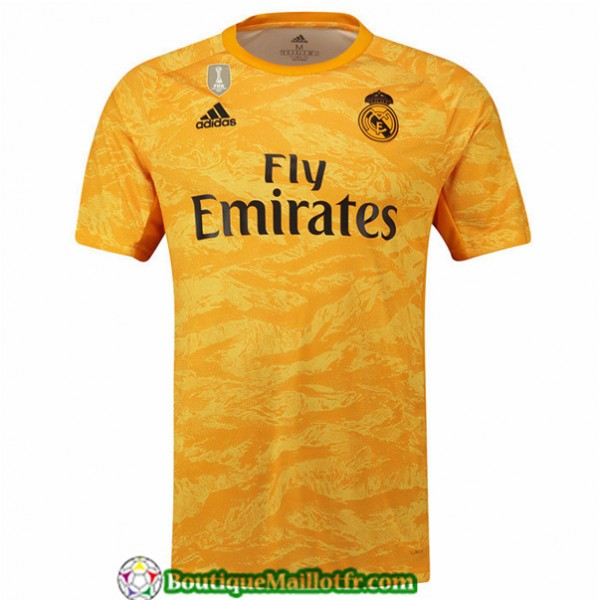 Maillot Real Madrid 2019 2020 Dardien De But Jaune