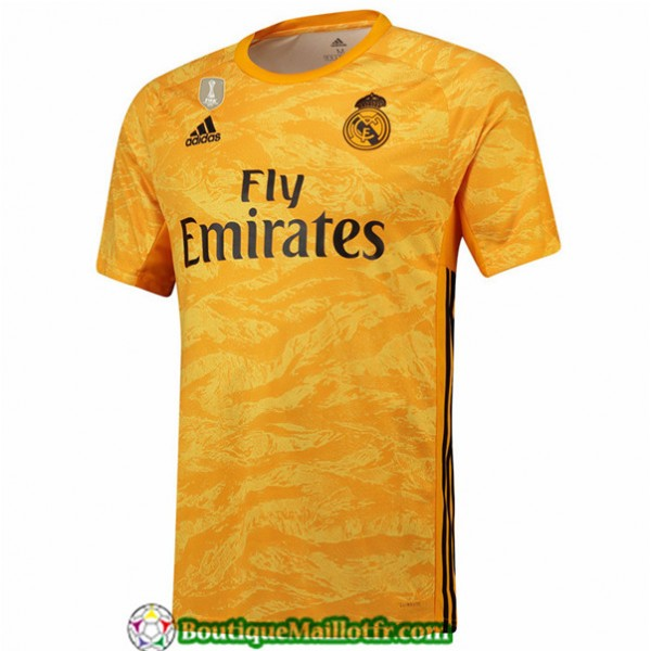 Maillot Real Madrid 2019 2020 Dardien De But Jaune