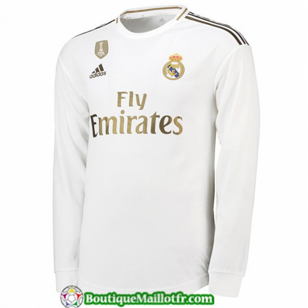 Maillot Real Madrid 2019 2020 Domicile Manche Long...