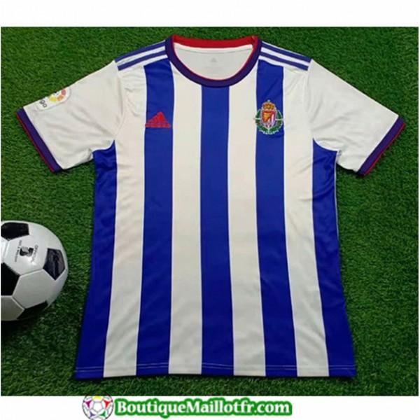 Maillot Real Valladolid 2019 2020 Exterieur Bleu/b...