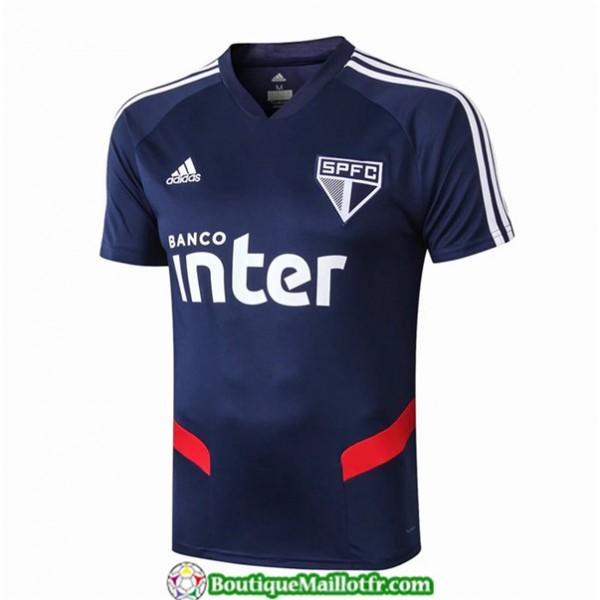 Maillot Sao Paulo 2019 2020 Col V Pre Match Bleu
