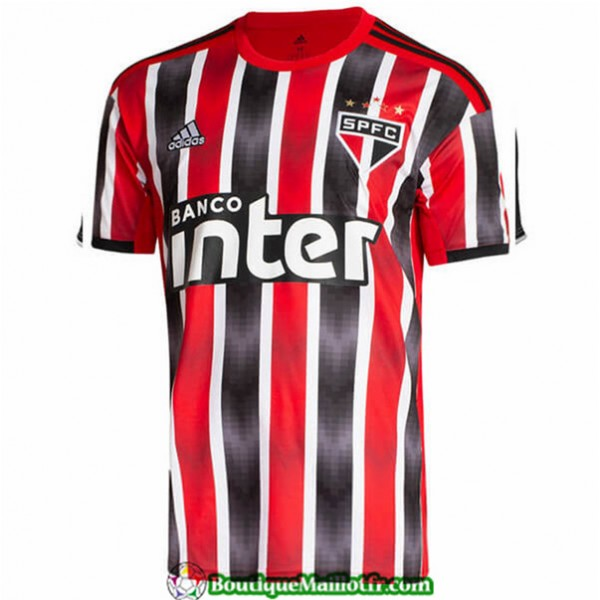Maillot Sao Paulo 2019 2020 Exterieur Rouge