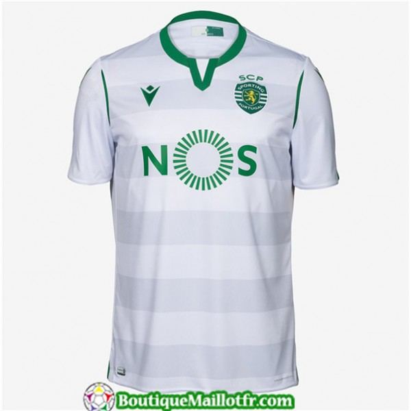 Maillot Sporting Lisbonne 2019 2020 Third Blanc